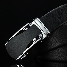 New business leather cowhide new simple luxury brand mens quality belt high automatic buckle