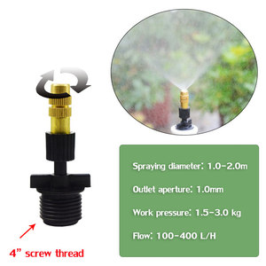 Image 5 - NEW Adjustable horticultural atomizing nozzle Cooling and humidification high pressure misting nozzles greenhouse garden fogger