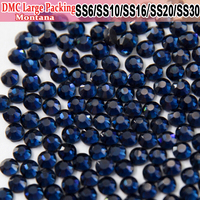 Bulk Packing Strass Montana Glass All Size Hot Fix Heat Transfer Design Iron On Hotfix Rhinestones For Pretty stoning pattern