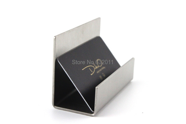 Modern Stainless Steel Business Card Holder Name