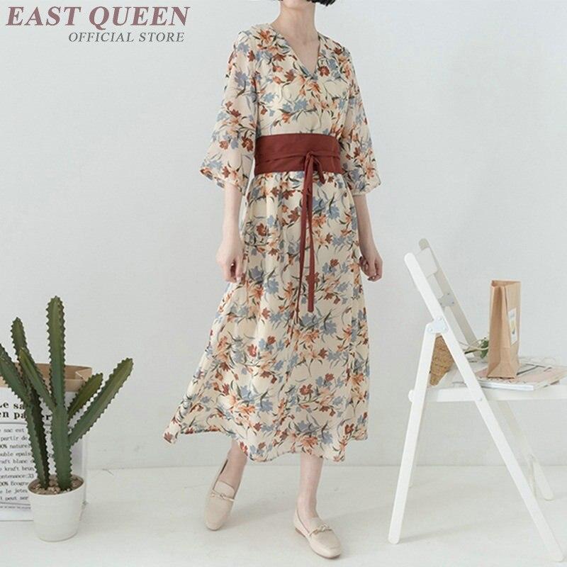Kimono japonais robe florale traditionnelle femmes kimono japonais traditionnel yukata haori obi femmes japon vêtements DD932