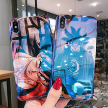 Japão dragon ball z super son goku dbz capa para iphone 11 pro x xr xs max 6 s 7 8 plus luz azul macio silicone telefone coque(China)