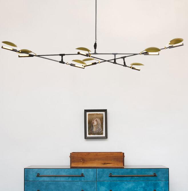 Творческий филиал искусств ролл холм Agnes подвесной светильник лампа Современный итальянский дизайн личности Гостиная Ресторан Лампы для м
