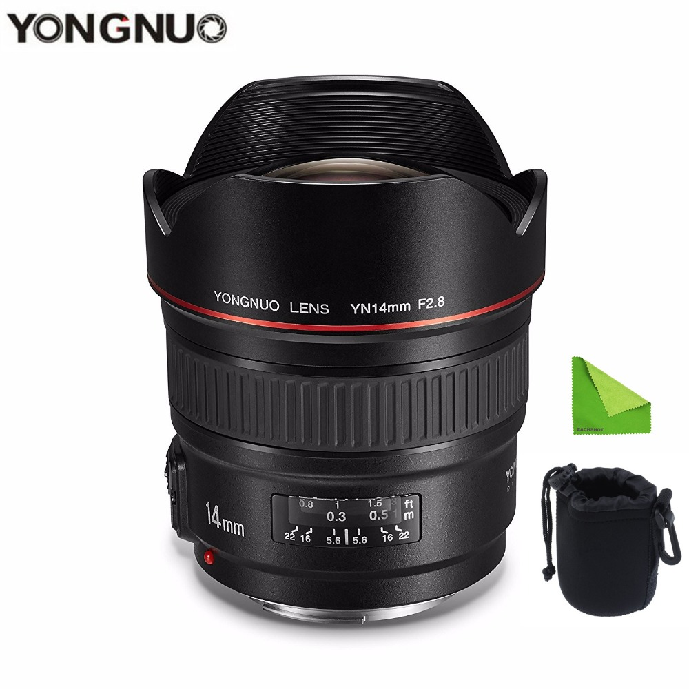 YONGNUO 14mm F2.8 114 Ultra-wide Angle Prime <font><b>Lens</b></font> YN14mm Auto Focus AF MF Metal Mount <font><b>Lens</b></font> for <font><b>Canon</b></font> 700D <font><b>80D</b></font> 5D Mark III IV image