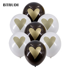 30pcs/lot heart balloons black white blue valentines day ball 12inch Romantic Proposal Lovewedding decoration balloon