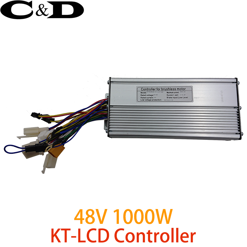 ebike 48V 1000W 40A Electric bicycle Brushless controller Sine wave Hall Sensor KT Series Support LED