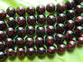 Free shipping ( 2 strands/lot ) natural 8mm garnet beads red stone material for jewelry