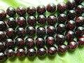 Frete grátis (2 fios/lote) natural 8mm granada esferas vermelho material de pedra para a jóia