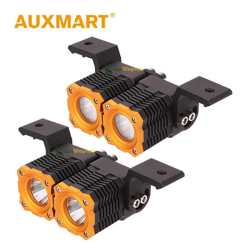 Auxmart CREE Chips 10W 2 inch Pods LED Work font b Light b font Spotlight Flood