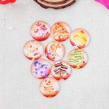 Бесплатная доставка; оптовая продажа 100 шт./лот смешивать цвета мульти-размер Круглый Форма Flatback Стекло Бусины Книги по искусству DIY телефон случае украшения wyq016