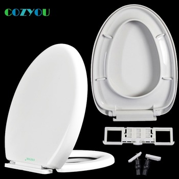 Elongated soft close Toilet seat PPQuick-Release above installation slow close length 453 to 500mm,width 340 to 360mm GBP17270PV