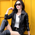 Motorcycle Genuine Leather Jacket Plus Size M-4XL Spring And Autumn New 2016 Europe And The United States Women's Short Coat