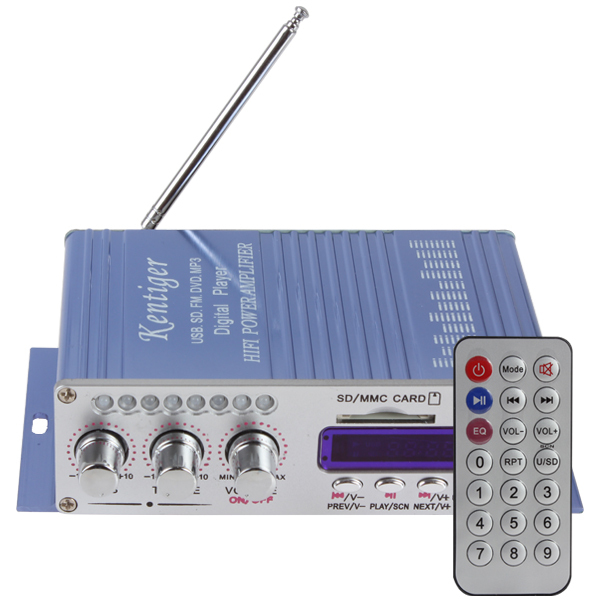 Best Offers 10pcs HY502 Digital Display Hi-Fi 50Wx4 2CH Car Stereo Power Amplifier AMP Support iPod / USB / MP3 / FM / SD Jack Input