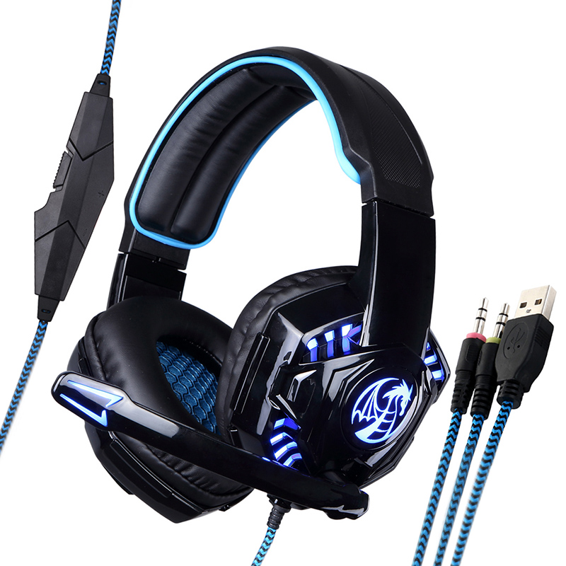 Brand New Noswer I8 LED Stereo Over-ear Headphones Headband Gaming Headset with Microphone for Raze Gamer