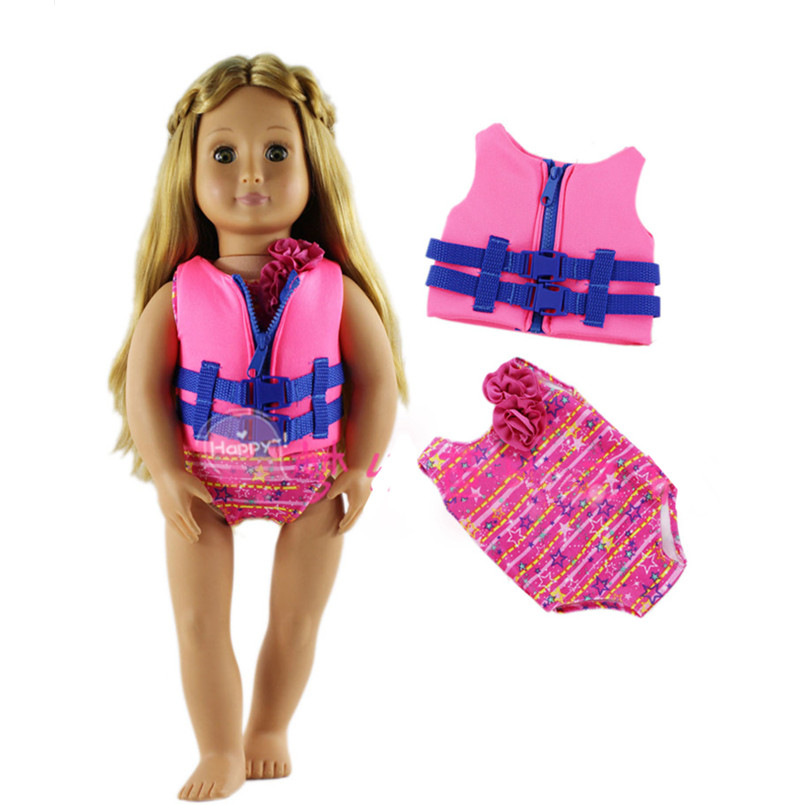 New Style Doll Clothes for American Girl Doll Fashion Swimsuit Summer Swimwear,18 Inch American Girl Doll Clothes Accessories american girl doll clothes superman and spider man cosplay costume doll clothes for 18 inch dolls baby doll accessories d 3