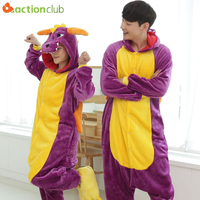 ACTIONCLUB Adults Anime Cartoon Sleepwear Hoodie Pyjama Cute Animals Nightwear Sleepwear Unicorn Tiger Onesie Pajamas 15