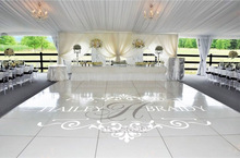 2017 The New Wedding Floor Stickers Customize Bride Groom Names & Initial Removable Vinyl Wedding Floor Monogram Decal ZA104C