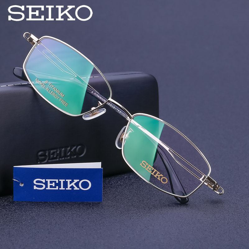 SEIKO Eye Glasses Frames for Men Classic Titanium Eyeglasses Optical Spectacles for Myopia High End Nearsighted