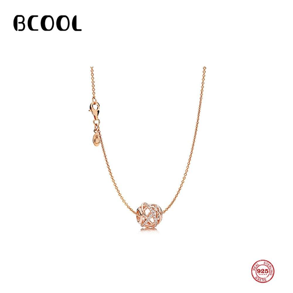 925 collier en argent réglable nid d'oiseau collier femme charme bijoux Zircon collier fin cadeau
