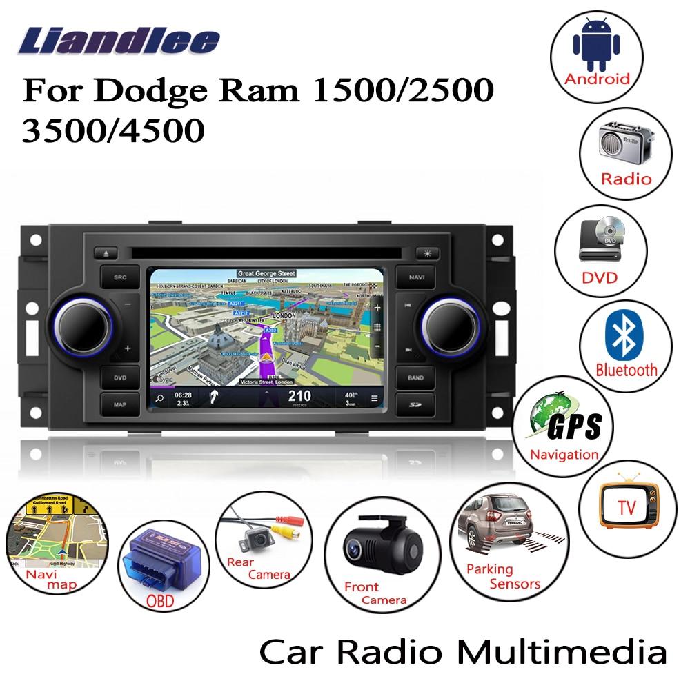 Liandlee pour Dodge Ram 1500/2500/3500/4500 2006 ~ 2009 Android autoradio lecteur CD DVD GPS Navi Navigation cartes caméra OBD TV