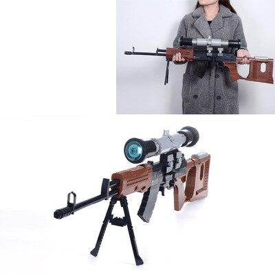 Série d'armes drôles Snayperskaya Vintovka Dragunova modèle arme blocs de construction classique SVD sniper pistolet jouets garçon cadeau d'anniversaire