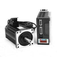750W AC Servo Motor 3A 0.75KW 2.39N.M Single Phase 80ST M02430 Matched Servo Driver CNC Machine