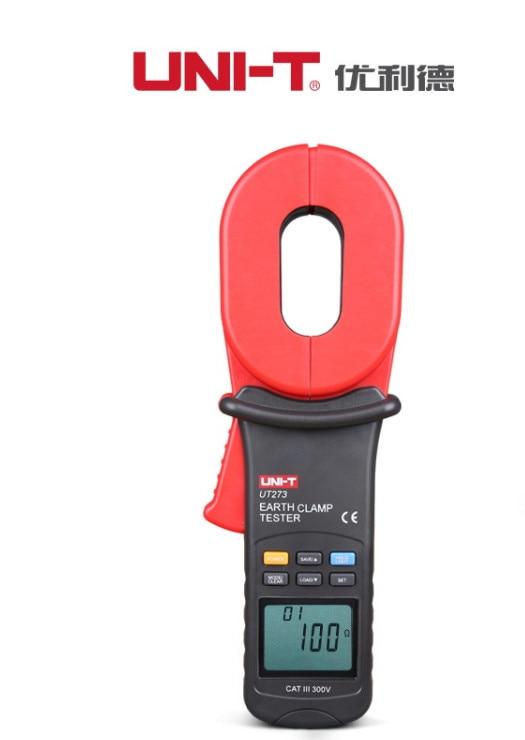 UNI T UT273 0.01 1000ohm w/Auto Calibration & Resistance Limit Alarm Auto Range Digital Clamp Earth Ground Resistance Testers