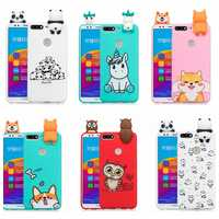 Honor 7C Case Cover on for Huawei Honor 7A Pro Cartoon 3D Panda Unicorn Dog Silicone Case pouzdro na Huawei Honor 7A 7C Pro Case