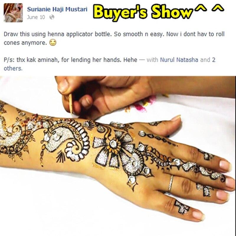 M-Theory Mehndi Henna Body Paint 25g Temporary Tattoos Glitter Mehndi Arts Flash Tatoos Summer Bikini Swimsuit Dress Makeup Tool 8