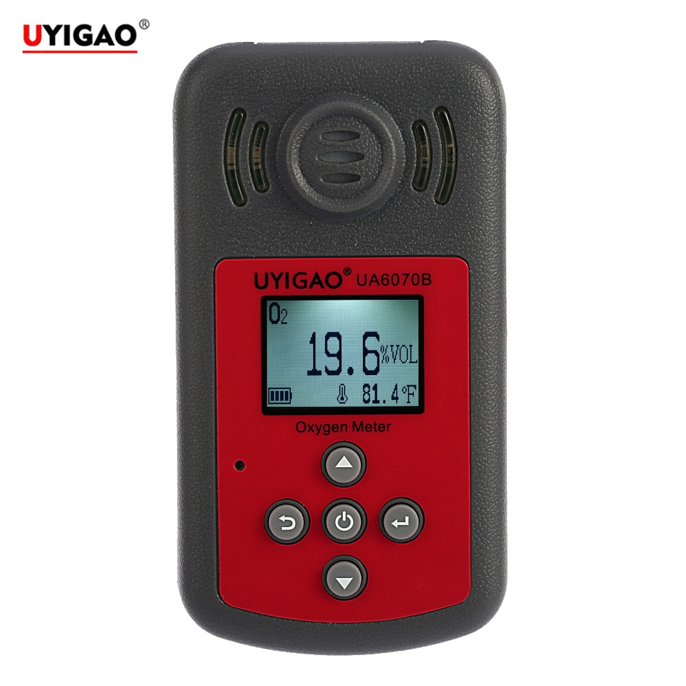 Portable O2 Gas Tester Monitor Automotive Oxygen Detector Mini Oxygen Meter Gas analyzer with LCD Display Sound and Light AlarmPortable O2 Gas Tester Monitor Automotive Oxygen Detector Mini Oxygen Meter Gas analyzer with LCD Display Sound and Light Alarm