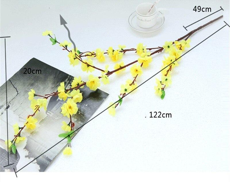 Ciliegio artificiale Spring Plum fiori di Pesco Ramo Fiore Di Seta Albero di Ciliegio FAI DA TE Wedding Party Decor Ornament - 5