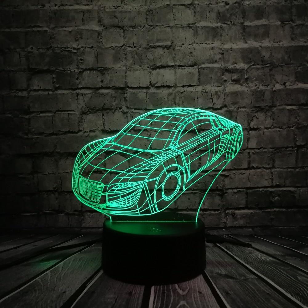 HOT SALE Super Roadster GTR Sports Car Model 3D LED Lamp 7 Colors - Night Lights - Photo 2