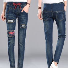 НОВАЯ мода марка Мультфильм женщины карандаш джинсы джинсовые брюки стиральная цвет хорошее качество женщины повседневная жан свободные Харлан женские брюки
