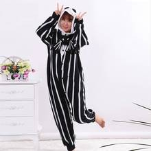 b50e5d2c30a55 Kigurumi Adults Cartoon Unisex Men Women Skeleton Jack Onesies Pajamas  Sleepsuit Cosplay Costumes For Halloween Party