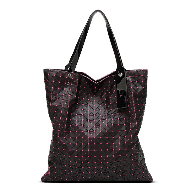 Diamond Lattice Women Baobao Geometry Bag Silica Gel Folding Over Handbag Women Bag BAOBAO Totes Shoulder Bags 2015 hot fashion top top quality same as baobao 1 1 women s lattice geometry quilted handbag geometric mosaic totes bag6 6