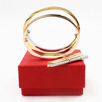 Luxury Fifth Carter Bracelets and Bangles for the Wedding Jewelry Titanium Steel Bracelet lover with screwdriver and box set