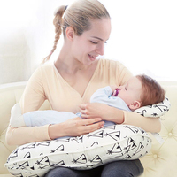 Baby 2 Pieces One Set New Baby Breastfeeding Pillow Infant Cuddle U Nursing Pillow Baby Mummy Feeding Waist Support Cushion