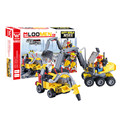 196pcs Original DIY City Construction Excavator Assemble Toy Brinquedos Forge World Small Particles Building Blocks
