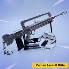 Четырнадцать дней ночей вокруг Famas Штурмовая винтовка брелки сплава Книги об оружии