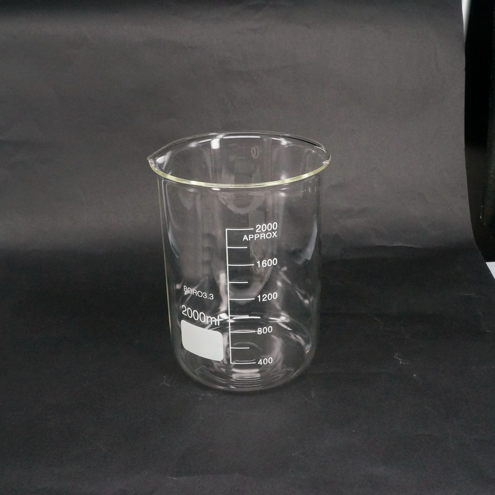 2000ml Low Form Beaker Chemistry Laboratory Borosilicate Glass Transparent Beaker Thickened With Spout