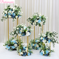 10pcs/lot New Style Different Sizes Wedding Metal Gold Color Flower Vase Column Stand For Wedding Centerpiece Decoration
