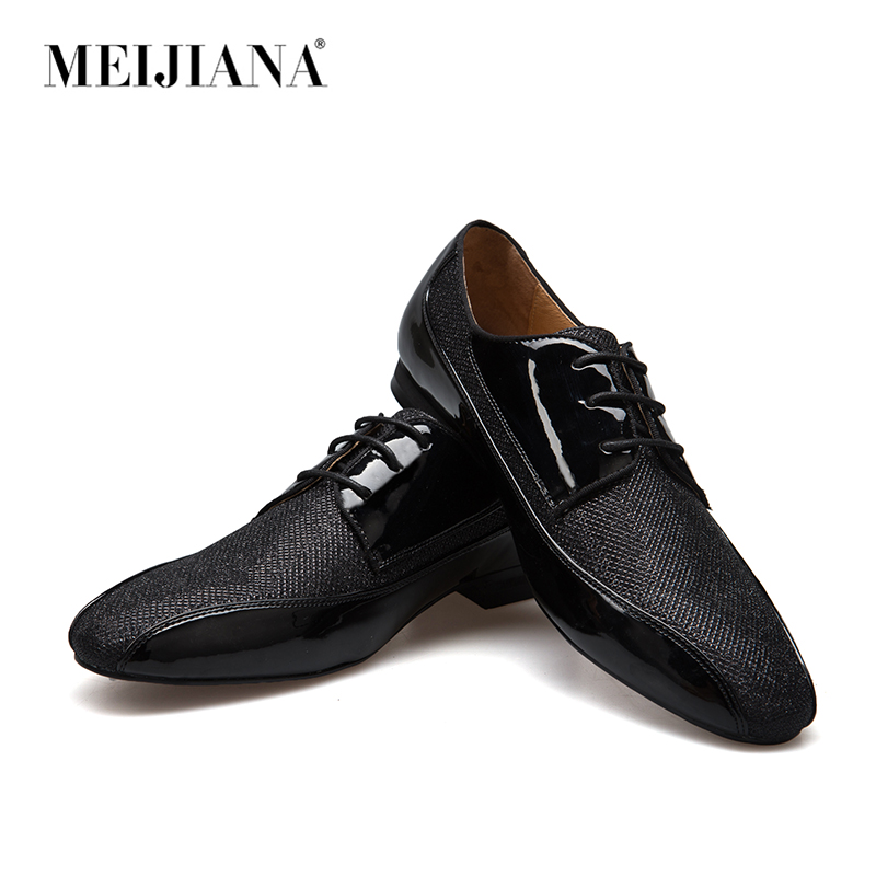 MeiJIaNa Handmade Leather And Sequins Leather And Men s Formal Shoes Oxford Shoes For Men Genuine