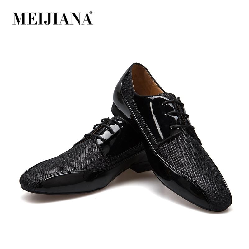 MeiJIaNa fait à la main en cuir et paillettes et chaussures formelles pour hommes chaussures Oxford pour hommes en cuir véritable-in Chaussures d'affaires from Chaussures    1