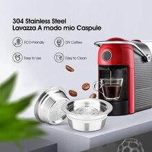 ICafilasStainless filtro de cápsula de café reutilizable para Lavazza Jolie/Tiny & LM3100 ESPRIA, acero inoxidable