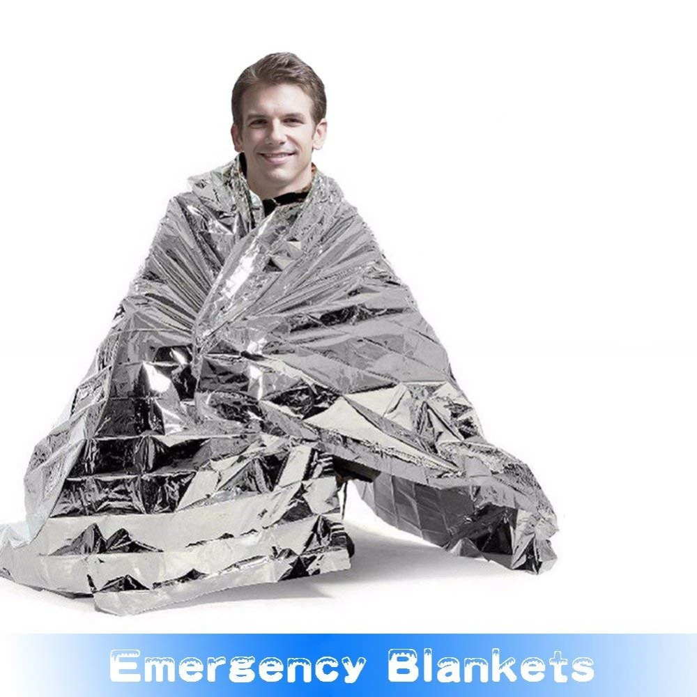 Outdoor Emergency Blankets For Camping Hiking Waterproof Disposable Foil Thermal Blanket First Aid Sliver Curtain