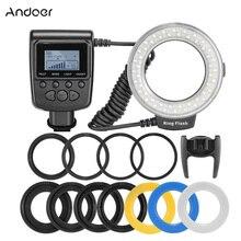 Andoer RF 550D Macro 48 Đèn Ring LED Ringlight Cho Canon Nikon Pentax Olympus Sony DSLR Màn Hình LCD Hiển Thị Điều Khiển Công Suất