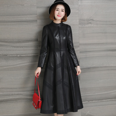 2018 New Fashion Genuine Sheep Leather   Trench   H61