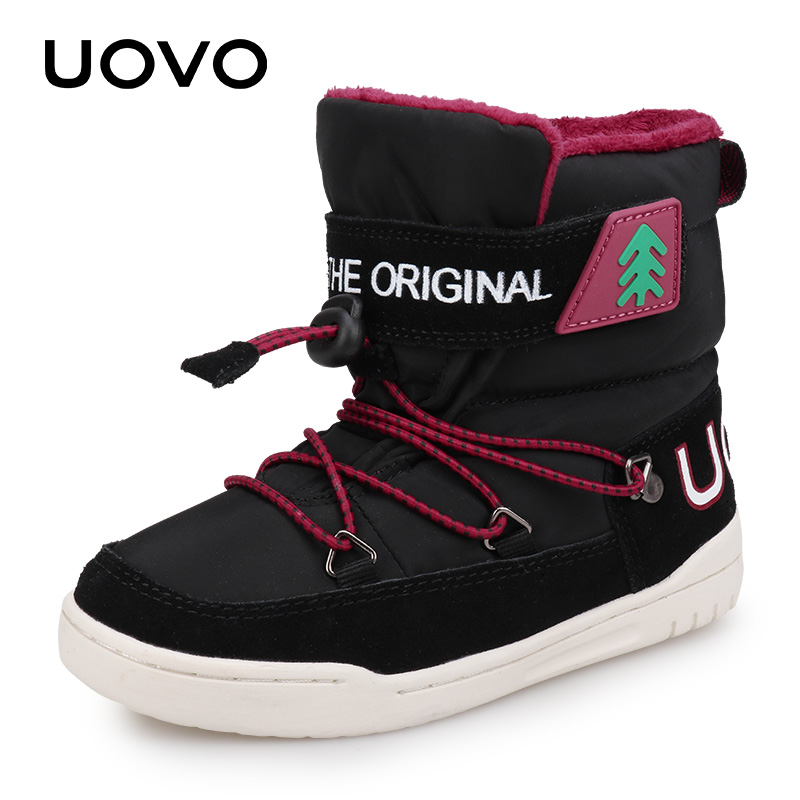 e2d454b917df ... BoysWinter Snow Boots Kids 2018 UOVO New Arrival Fashion Children Warm Boots  Boys and Girls Shoes With Plush Lining  29-37. 40% OFF. Previous