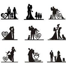 Свадебные торты для всей семьи, топы для малышей и маленьких мальчиков, для невесты и жениха, вечерние акриловые украшения на заказ