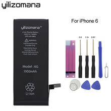 купить YILIZOMANA Original Replacement Phone Battery for iPhone 6 6S 7 8 High Capacity Lithium Polymer Batteries Retail Package + Tools дешево
